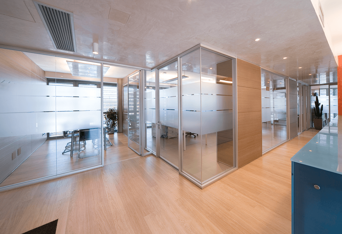 Modular Office Partitions ~ Demountable glass partitions partition walls for
