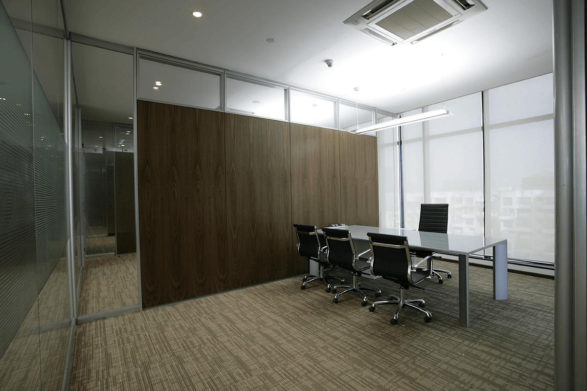 Demountable glass partitions glass partition walls for for Office wall interior